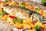 Рыба с овощами в духовке в фольге рецепт с фото – Рыба в фольге запеченная с овощами в духовке рецепт с фото пошагово и видео