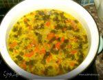 Суп с шампиньонами и колбасным сыром – мясной фарш, бульонные кубики, морковь
