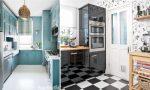 На кухне обои с цветами – Обои с цветами в интерьере кухни