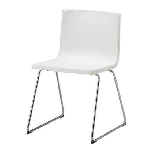 69685a8a Хромированные ножки, натуральная кожа — это кухонные ИКЕА стулья БЕРНГАРД.  Благодаря слегка пружинящему сиденью обеспечивается максимальный комфорт  для ...